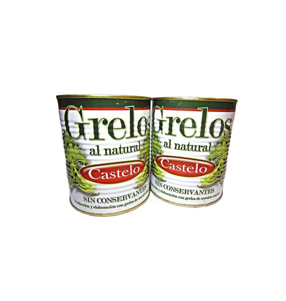 Comprar Grelos gallegos al natural en conserva 500gr