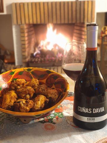 Receta facil alitas de pollo crujientes con maridaje vino cuñas davia tinto ribeiro